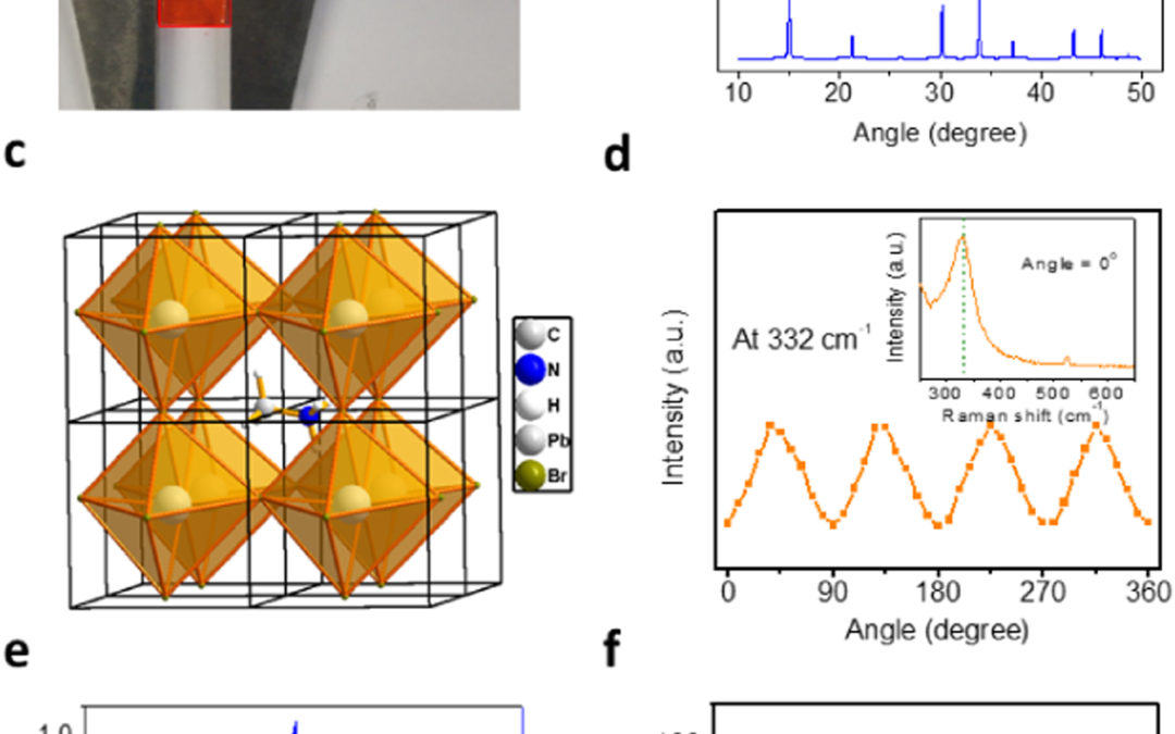 Metal contact and carrier transport in single crystalline CH 3 NH 3 PbBr 3 perovskite