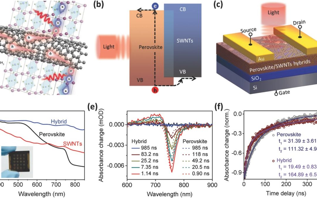 Ultrahigh Carrier Mobility Achieved in Photoresponsive Hybrid Perovskite Films